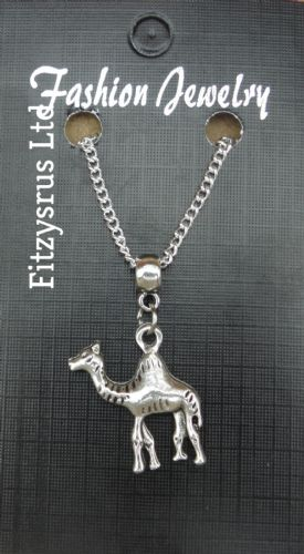 "18 or 24"" Inch Arab Arabian Camel Pendant Charm & Chain Necklace One Hump"